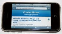 Настраиваем под iPhone и КПК свой Wordpress блог.